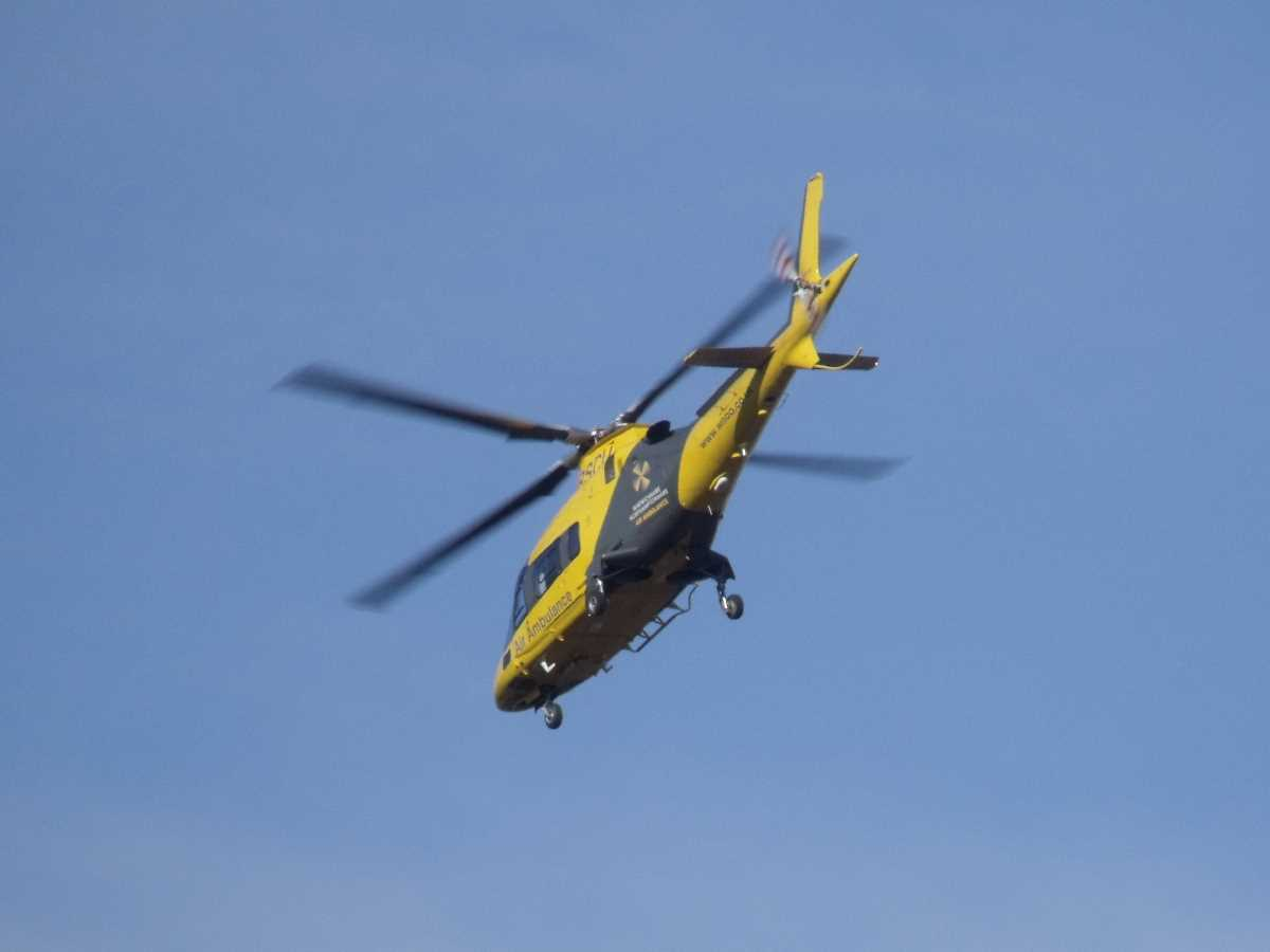 When the Air Ambulance flies patients to hospitals in Birmingham